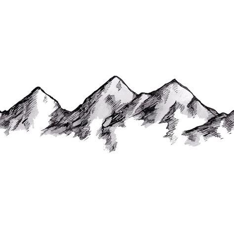 Sketches Mountains mountain sketch tattoos mountain sketch