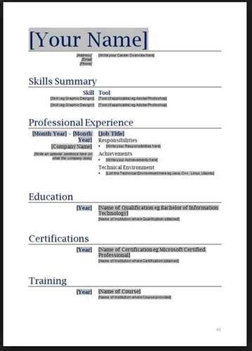 Simple Resume Examples For Jobs by Basic Resume Layout Free Resume Templates