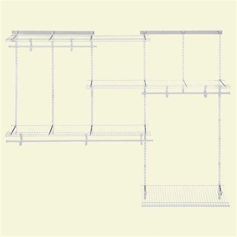 5 ft closet organizer closetmaid shelftrack 5 ft 8 ft closet organizer kit
