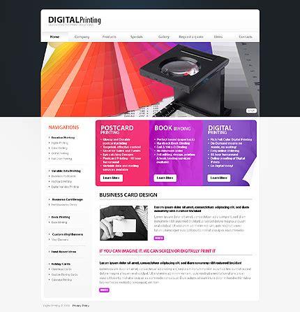 Print Shop Website Template 25629 Printing Company Website Template