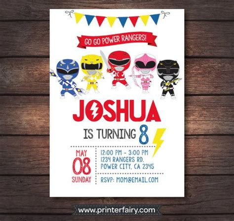 printable birthday invitations power rangers power ranger invitations power rangers birthday power