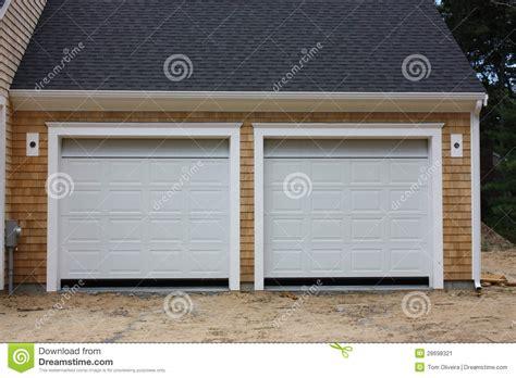 new 2 car garage stock image image 28698321