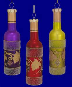 decorative wine bottle ornaments glass your choice