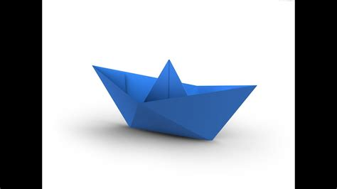 origami folding a boat how to make a simple origami boat that floats hd youtube