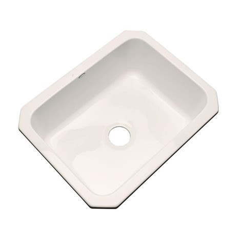 acrylic undermount kitchen sinks thermocast inverness undermount acrylic 25 in single bowl