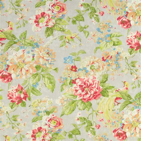 poppy orange and floral print upholstery fabric