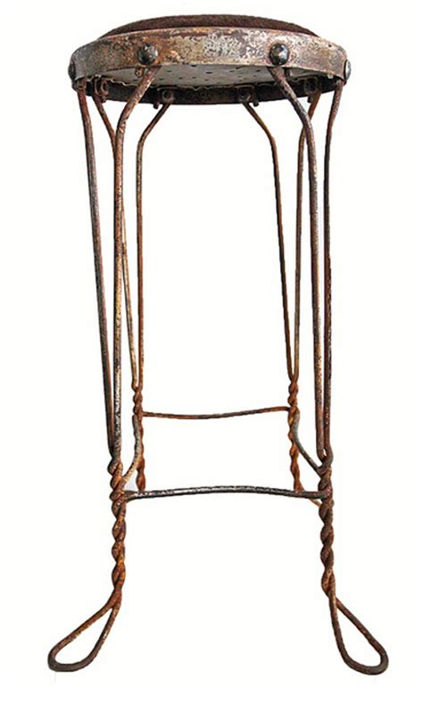 Metal Stools Vintage by Vintage Metal Stool With Hide Seat Second Shout Out