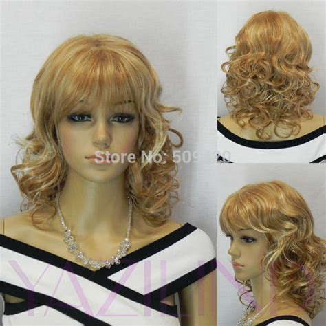 Medium Blonde Biracial And Mixed Hair Biracial Mixed | fsx59826 gt gt gt gt women short medium curly wavy brown blonde