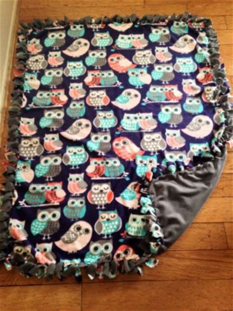 Handmade Fleece Blankets - new handmade owl no sew tie throw fleece blanket