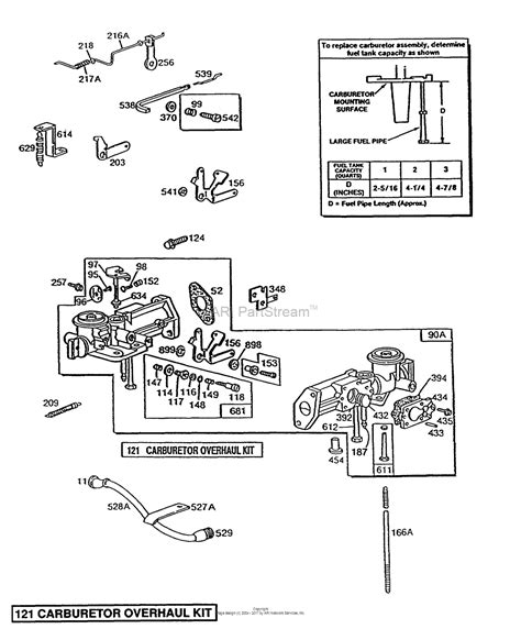 briggs and stratton carburetor diagram briggs and stratton 080202 1896 01 parts diagram for pull