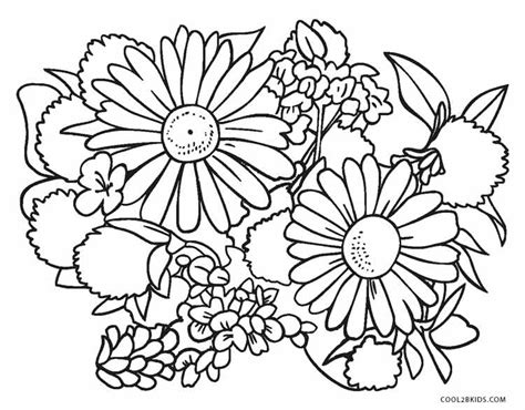Coloring Page Flowers by Free Printable Flower Coloring Pages For Cool2bkids