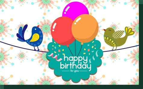 balloon birthday card template birthday invitation template free vector 15 960