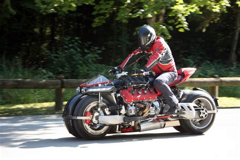 motorcycles don t come crazier than the maserati v8