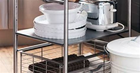 ikea grundtal kitchen bathroom cart storage rolling add counter or storage space with this ikea grundtal