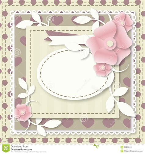 picture frame birth day card template template of birthday card stock vector illustration of