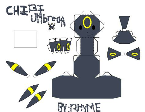 Umbreon Papercraft - chibi umbreon template by chibi okamiden on deviantart