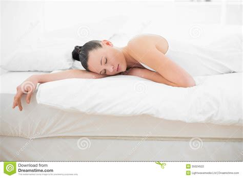 woman sleeping in bed pretty woman sleeping in bed stock photography image