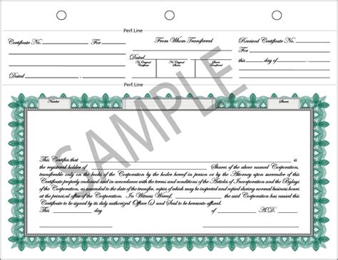Best Photos Of Fillable Stock Certificate Printable Stock Certificate Template Corporate Back Of Stock Certificate Template