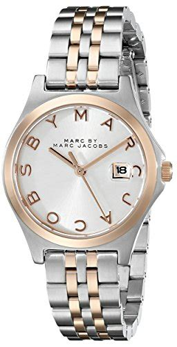 marc by marc s mbm3353 slim two tone stainless steel with link bracelet 101