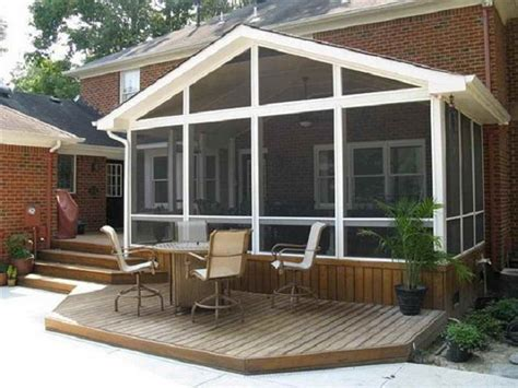 screened in deck plans screened porch building plans