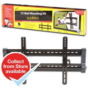 buy for dummies tv wall mounting kit at home bargains