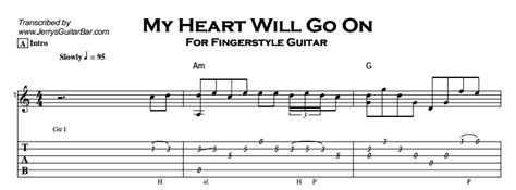 tutorial fingerstyle titanic fingerstyle instrumental my heart will go on jerry s