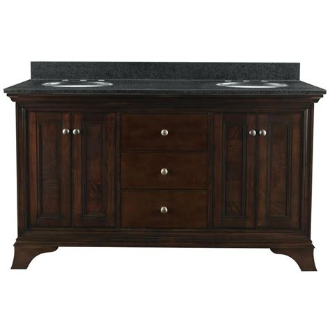 Bathroom Vanity With Granite Top Shop Allen Roth Eastcott Auburn Undermount Double Sink