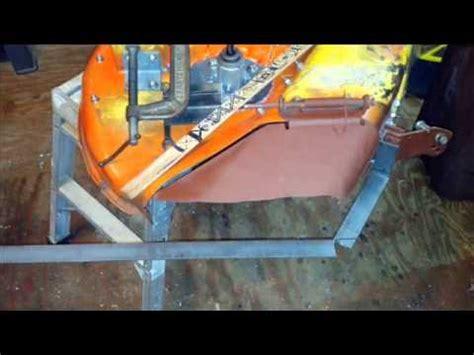 john deere la   mower deck repair youtube