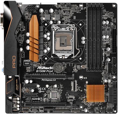 Motherboard Mainboard Intel Asrock B150m Pro4 Asrock S1151 Microatx B150m Pro4 Ddr4 Motherboard