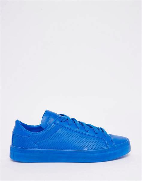 blue sneakers cost effective adidas originals court vantage