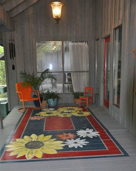 Painted Rug by Painted Porch Rugs Home Design Garden Architecture