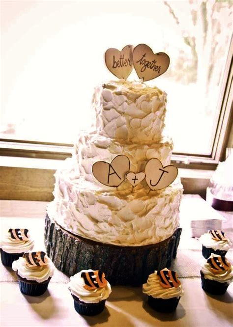 custom cupcake cake toppers better together wedding