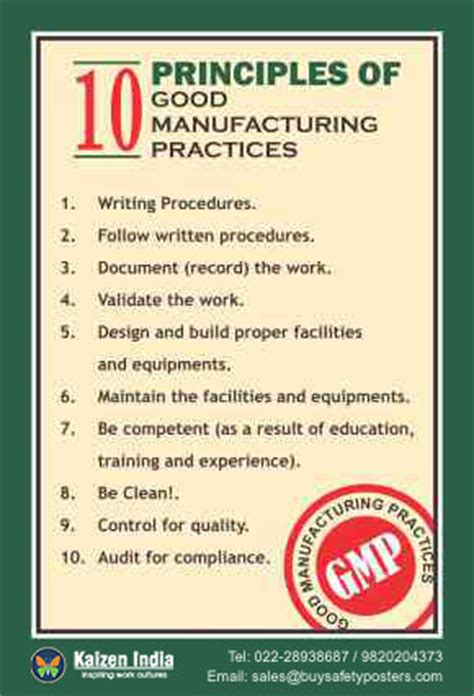 good manufacturing processes (gmp) (4) | safety posters