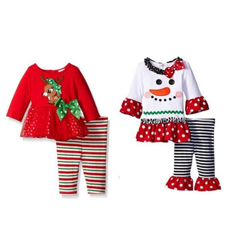 christmas tree outfit pattern winter new years outfit kids girls fashion christmas