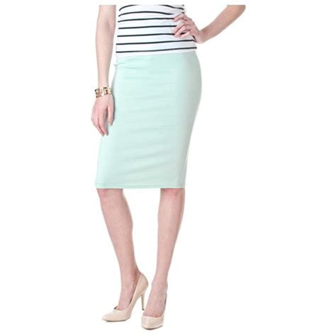 riverberry moa collection by bodycon pencil skirt mint