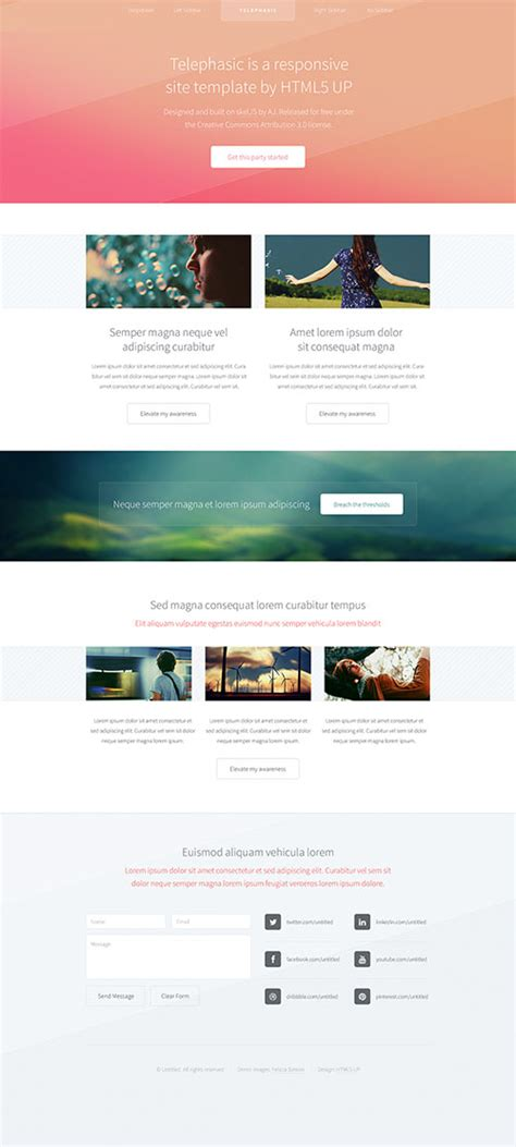 Free Responsive Html5 Templates Interactive Html5 Website Templates
