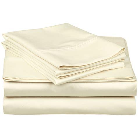 thread count luxury 500 thread count 100 premium cotton solid sheet set ebay