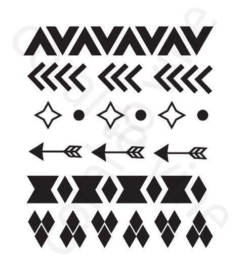 arrow pattern svg arrow svg aztec tribal shapes svg arrow geometric svg arrow