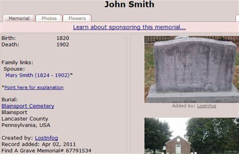 Find A Grave Ten Innovations In Genealogy Search Page 2