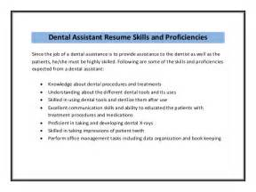 dental assistant description sle dental assistant