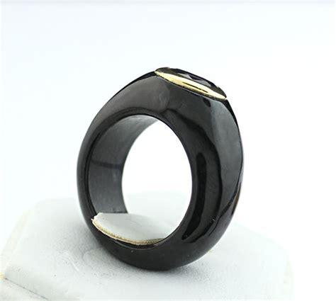 black jade ring black jade ring with 14k yellow gold new catawiki