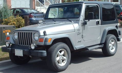 What Is A Tj Jeep File Jeep Tj Sport 4 0 Jpg Wikimedia Commons