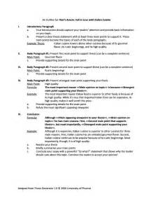 Draft Outline Exles by Pin Sle Scholarship Essays Regarding Ethical Leadership On