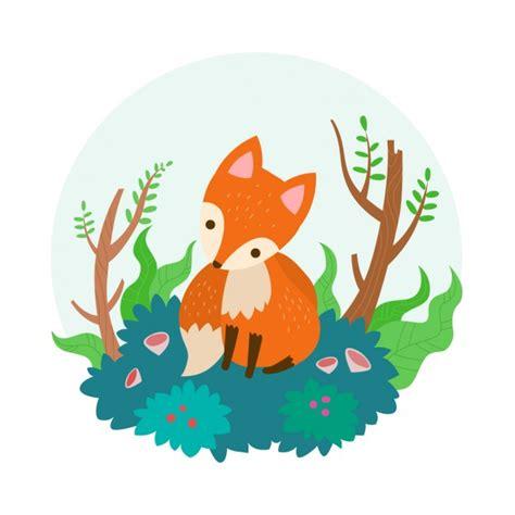 flat fox vector free