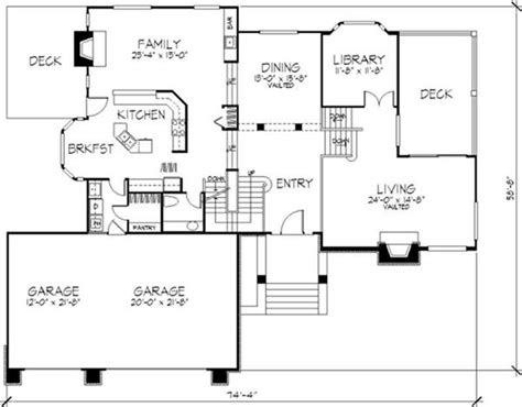 multi level home floor plans multi level house plans country house plans 1 1 2