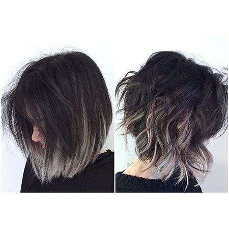 shag haircut brown hair with lavender grey streaks 45 popular short hair color short hairstyles haircuts 2017