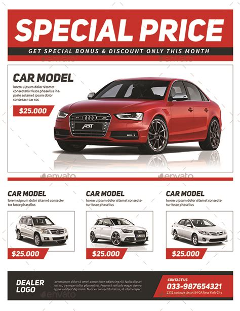 car sale flyer by guuver graphicriver