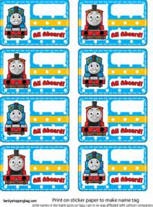 name tag thomas the tank engine party decorations free