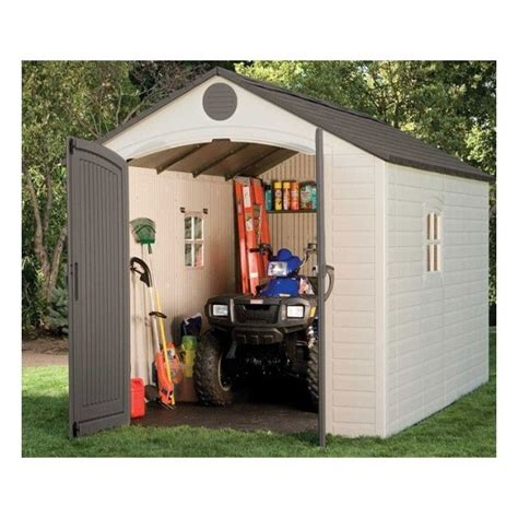 lifetime  ft plastic storage shed kit