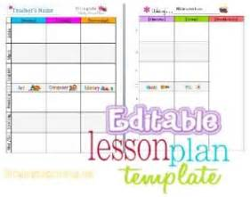 summer c lesson plan template free editable labels